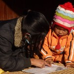 Läsundervisning. Bhaktapur