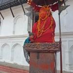 Hanuman staty. Kathmandu