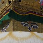 Buddhas allseende ögon! Swayumbunath, Kathmandu. Nepal (U)