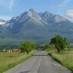 Vy över Höga Tatra. Poprad