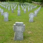 Tysk soldatkyrkogård. Huncovac