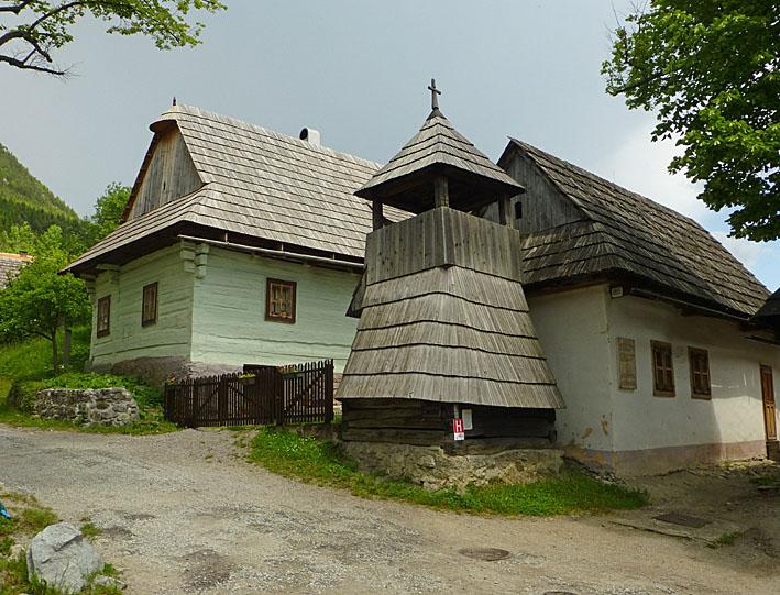 Byn Vlkolinec. Slovakien (U)