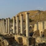 Kolonnad i f d Scythopolis. Beit Shean