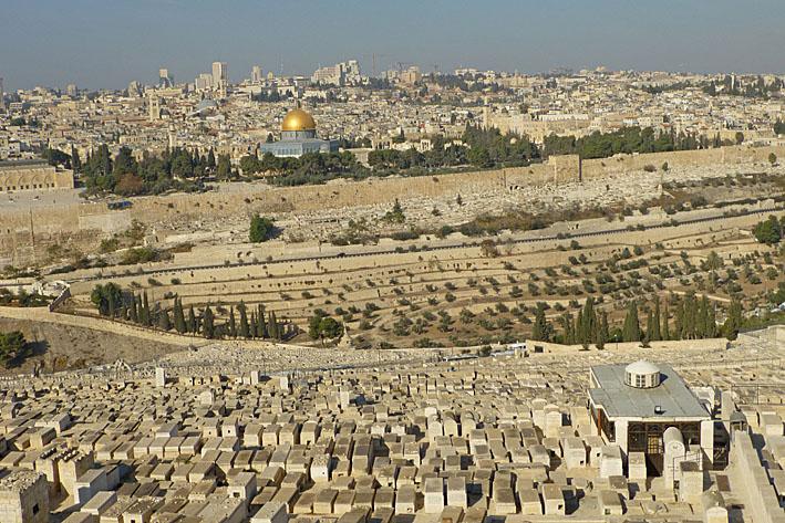 Vy från Oljeberget. Jerusalem