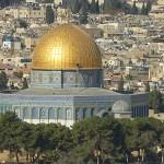 Klippdomen sedd från Oljeberget. Jerusalem