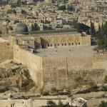 Vy över gamla staden. Jerusalem