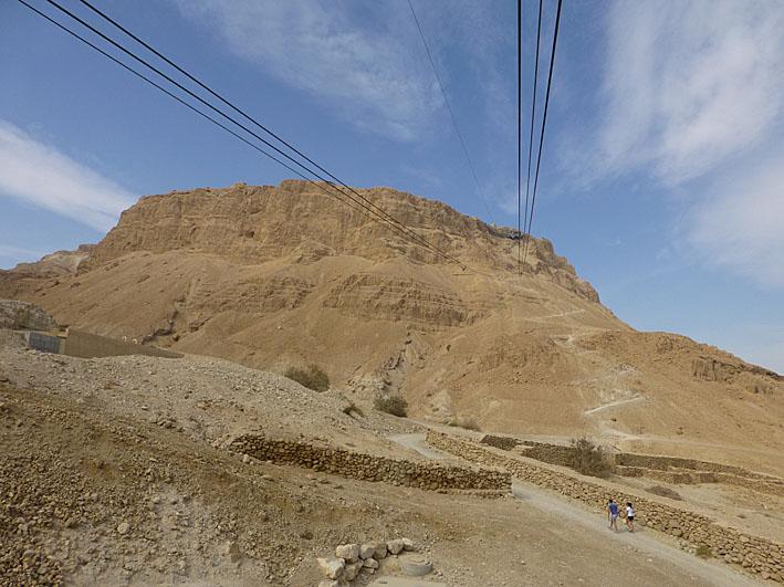 Den mäktiga Masada-klippan. Israel (U)