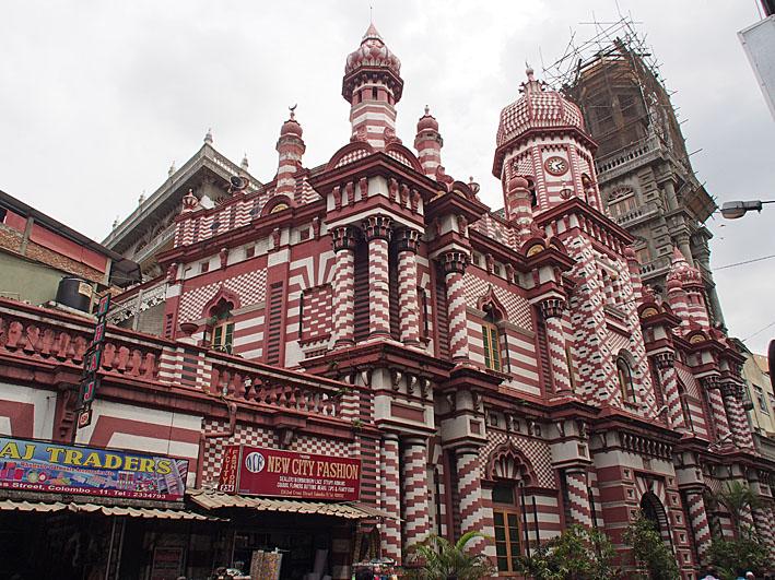 Jami-Ul-Alfar moskén. Colombo