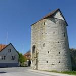Kvarntornet, enda halvrunda tornet i ringmuren. Visby (U). Gotland