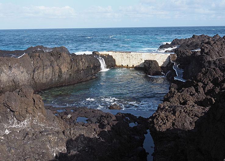 Lavabassäng från vulkanutbrottet år 1706. Garachico