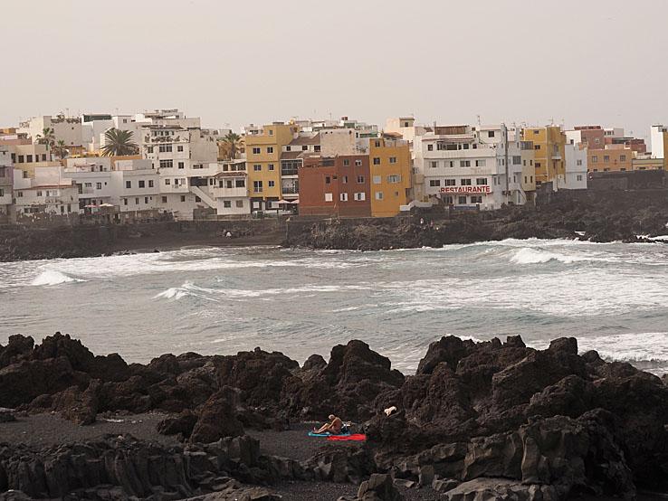 Den ensamme turisten. Puerto de la Cruz