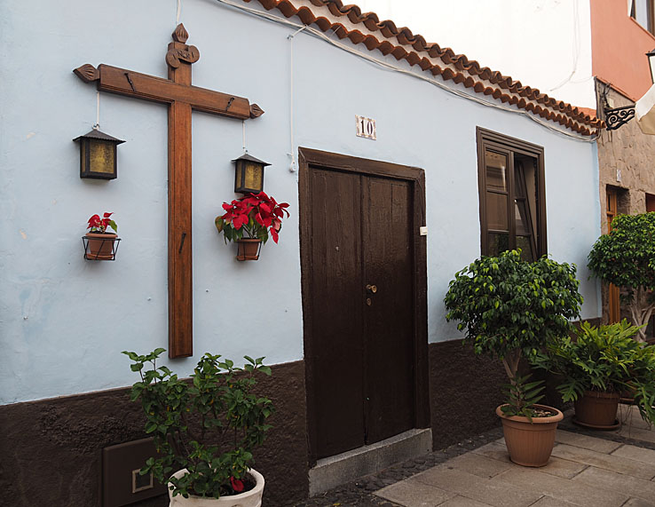 Traditionellt hus. Puerto de la Cruz