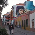 Muralmålning. Puerto de la Cruz