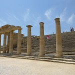 Grekiskt tempel i riddarborgen. Lindos