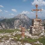 Krigsmonument. Monte Piana. Dolomiterna (U)