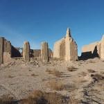 Den övergivna fiskebyn Urga. Aralsjön