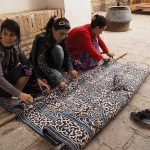 Klippning av matta. Khiva