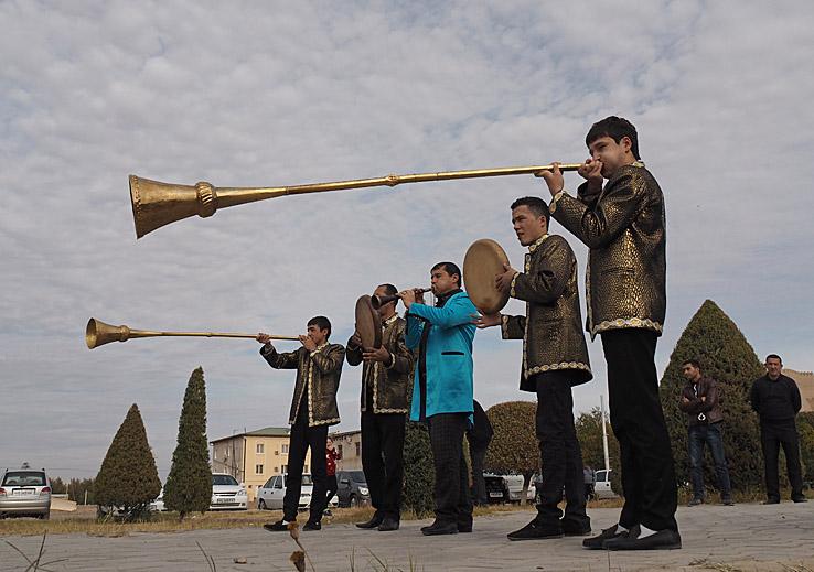 Bröllopsmusiker. Khiva