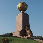 Leninstatyn är ersatt av en jordglob! Tasjkent