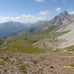 Vy från passet Forca Rossa, 2 490 möh (U)