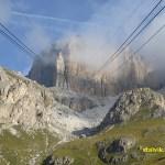 Liften upp till Rifugio Maria, 2 950 möh (U)