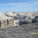 Vandring mot berget Piz Boe, 2 900 möh (U)