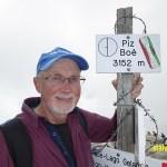 På toppen av berget Piz Boé, 3 152 möh (U)