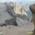 Vandring ned från berget Piz Boe, 2 900 möh (U)
