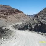 På dammiga vägar genom Namibia