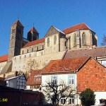 Schlossberg med St Servatii kirche. Quedlinburg