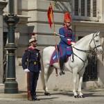 Vaktombyte vid Palacio Real. Madrid