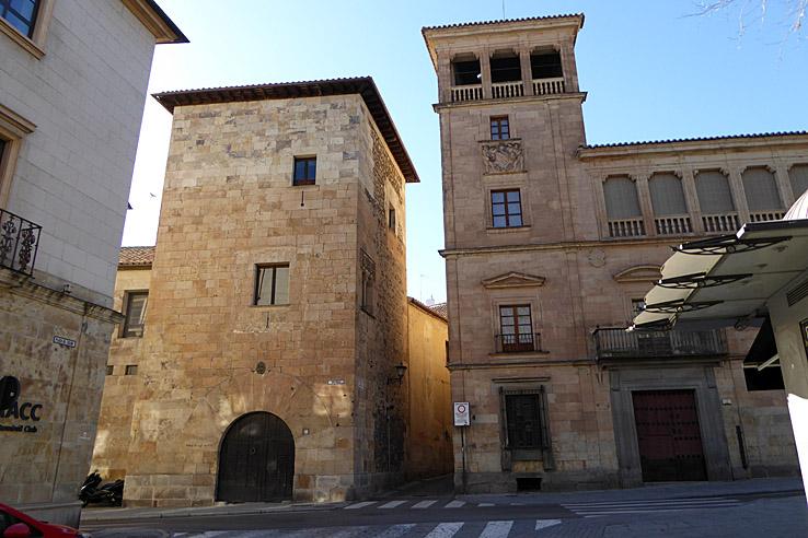 Palacio Orellana och Palacio Abrante. Salamanca (U)