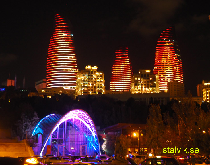 Flamtornen. Baku