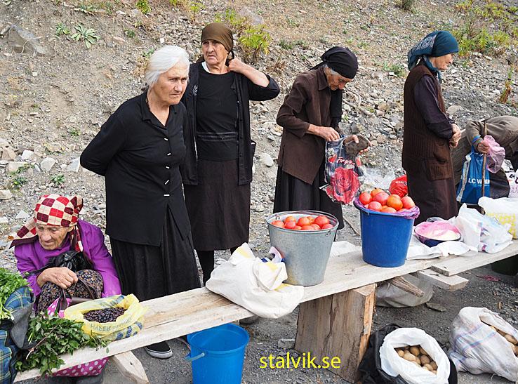 Marknaden i Ananuri