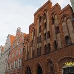 Världsarvsklassat gavelhus. Frankenstrasse. Stralsund (U)