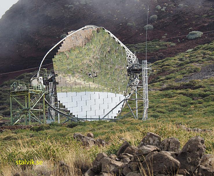 Teleskop. Nära Roque de los Muchachos