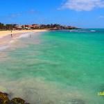 Hav eller sand gäller på ön Sal. Santa Maria