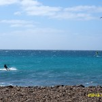Kitesurfing. Santa Maria