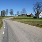 Vacker landsväg mellan Ambjörnarp och Fegen. Ätradalsleden