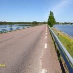 Cykla Siljansleden. Bro mellan Sollerön och Gesunda
