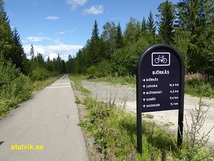 Cykling Grangärde - Grängesberg. Den nedlagda järnvägen till Ludvika