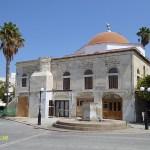 Deftedar moskén med skadad minaret. Kos stad