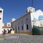 Jordbävningsskadad kyrka. Kos stad