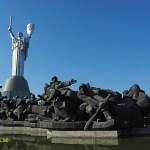Statyn Rodina Mat och rysk realkonst. Kiev