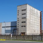 Övergiven byggnad. Tjernobyl
