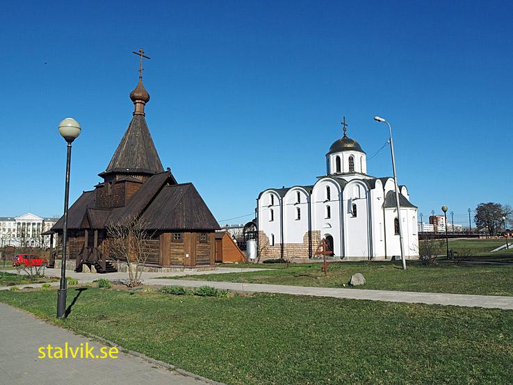 Alexander Nevsky-kyrkan och Blagovezhenskaya Bebådelsekyrka. Vitebsk