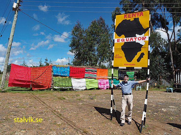 Ekvatorlinjen. På vägen till Lake Nakuru