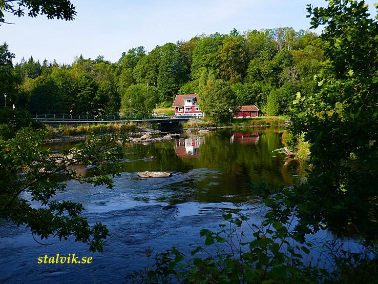 Fridafors - Karlshamn. Mörrumsån vid Hovmansbygd