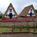 Traditionella hus. Santana