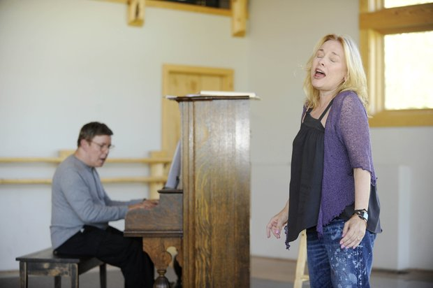 Pianist Shelly Markham accompanies Valerie Swift while rehearsing a piece Wednesday at Perry-Mansfield Performing Arts School and Camp.